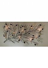 Arandelas de ferro com velas painel para parede