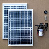 Kit bomba dagua solar com painel fotovoltaico 40w ( placa )