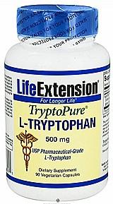 L-triptofano 500 mg 90 capsulas life extension