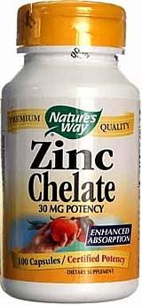 Zinco quelato 30mg natures way