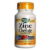 Zinco quelato 30mg,  100 capsulas natures way