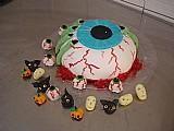 Bolos e doces halloween cupcake maca do amor pirulito