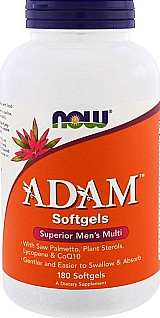 Adam superior mens 180 softgels now foods (multivitaminico masculino)