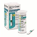 Lancetas - tiras medir glicose 50un r$59, 90 roche accu chek active