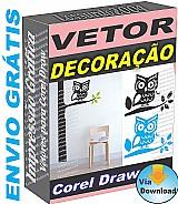 3.800 vetor adesivos parede decorativos estampas ploter corel draw envio gratis por download