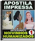 Kit: apostila impressa noivinhos humanizados cd artes volume 1 (frete gratis)
