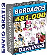 Bordados 481 mil arquivos jef frete grátis via download