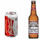 Budweiser cerveja garrafa lata