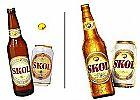 Cerveja skol lata e garrafa