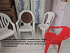 Cadeiras plasticas mesas selo imetro  anos garantia 140 kg suporte