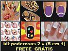 Kit Unhas Poderosas 2 - Vem 146 Adesivos Com Frete Gratis