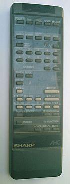 Controle remoto vcr vhs video cassete sharp vc1199b vc1499b