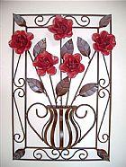 Painel de ferro para decoracao