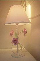 Abajur decorado com flores