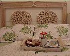 Cabeceira de cama rustica