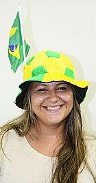 Atacado 120 Chapeu Torcedor Bola Bandeirinha Jogo Brasil Futebol Copa do Mundo