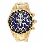 Relogio Invicta Lupah Chronograph Blue Dial Gold-tone PVD Stainless Steel