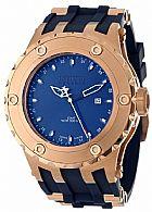 Relogio Invicta Mens 12032 Subaqua Reserve GMT Dark Blue Dial Navy Rubber