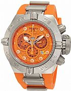 Relogio Invicta Mens 1386 Subaqua Noma IV Chronograph Orange Dial Orange Silico
