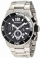 Relogio Invicta Mens 1341 Pro Diver Chronograph Black Textured Dial Stainless