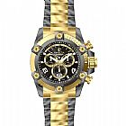 Relogio Invicta Mens 13016 Arsenal Black and Gold Two Tone Stainless