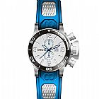 Relogio Invicta Corduba GMT Silver Dial Stainless Steel Blue Rubber Mens Watch
