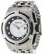 Relogio Invicta Mens 12679 Bolt Reserve Automatic Silver Textured Dial Stainles