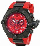 Relogio Invicta Mens 11802 Subaqua Noma IV Chronograph Red Cut Out Dial Red