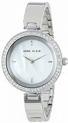 Relogio Anne Klein Womens AK/1421MPSV Swarovski Crystal Elements Silver-Tone