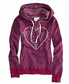 Moletom American Eagle Women s 14537675 AE NYC Hooded Popover Fuchsia Pink