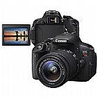 Camera digital canon eos rebel t5i 18mp - lente ef-s 18-55mm is filma em full hd