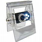Webcam 10mp com microfone clip led visao noturna