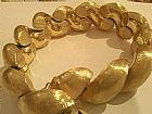 Pulseira em ouro modelo boucheron estilo transada grossa