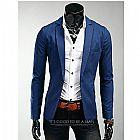 Blazer terno casual masculino slim fit em algodao - frete gratis