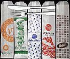 Saquinhos porta talher de papel personalizados para restaurante