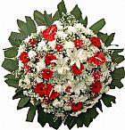 Coroa de flores no cemiterio renascer contagem