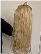 Aplique de cabelo - mega hair- cabelo loiro