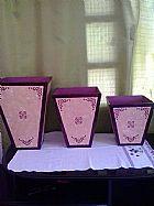 Jogo de vasos, vasos mdf, decoracao, artesanatos