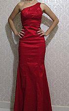 Vestido para festa longo vermelho