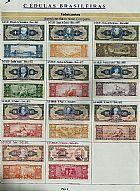 Cedulas brasileiras de dinheiro antigas