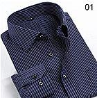 Camisa social slim fit casual luxo manga longa masculina