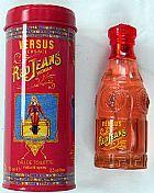 Perfume versace versus red jeans