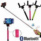 Bastao mao monopod foto selfie wireless bluetooth zoom