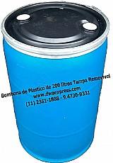 Bombonas de plastico 200 litros usadas tampa removivel