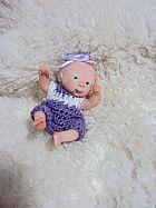Mini bebe lilac artesanal reborn em polymerclay ooak