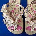 Sandalias decoradas varias cores
