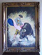 Quadro antigo com pintura a oleo sobre tela.- 090 -