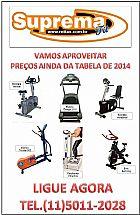 Produtos para academia com a tabela de 2014