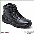Bota Coturno Cano Curto Atron Shoes Couro Floater Fret Grats