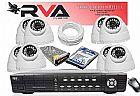 Kit de cameras de seguranca com 8 cameras com instalacao